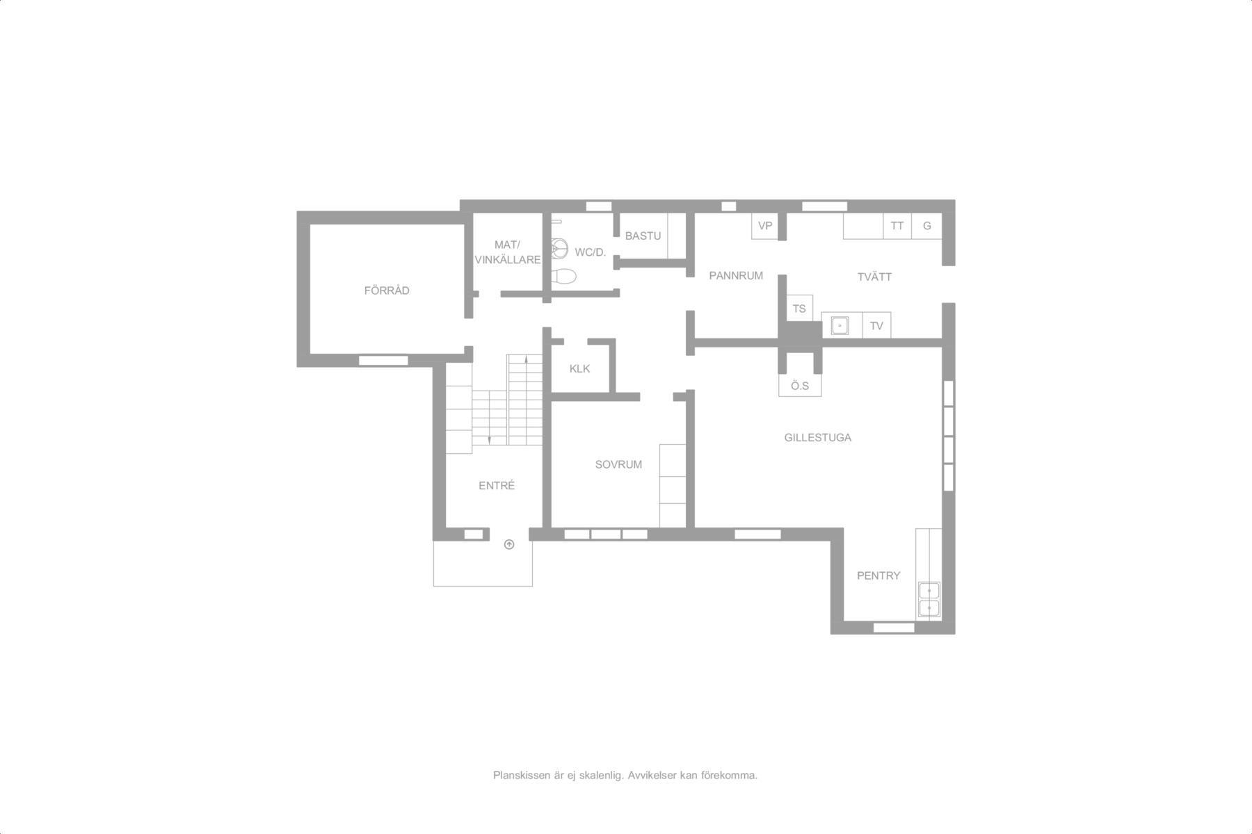 Alternativ ritning med separat lägenhet