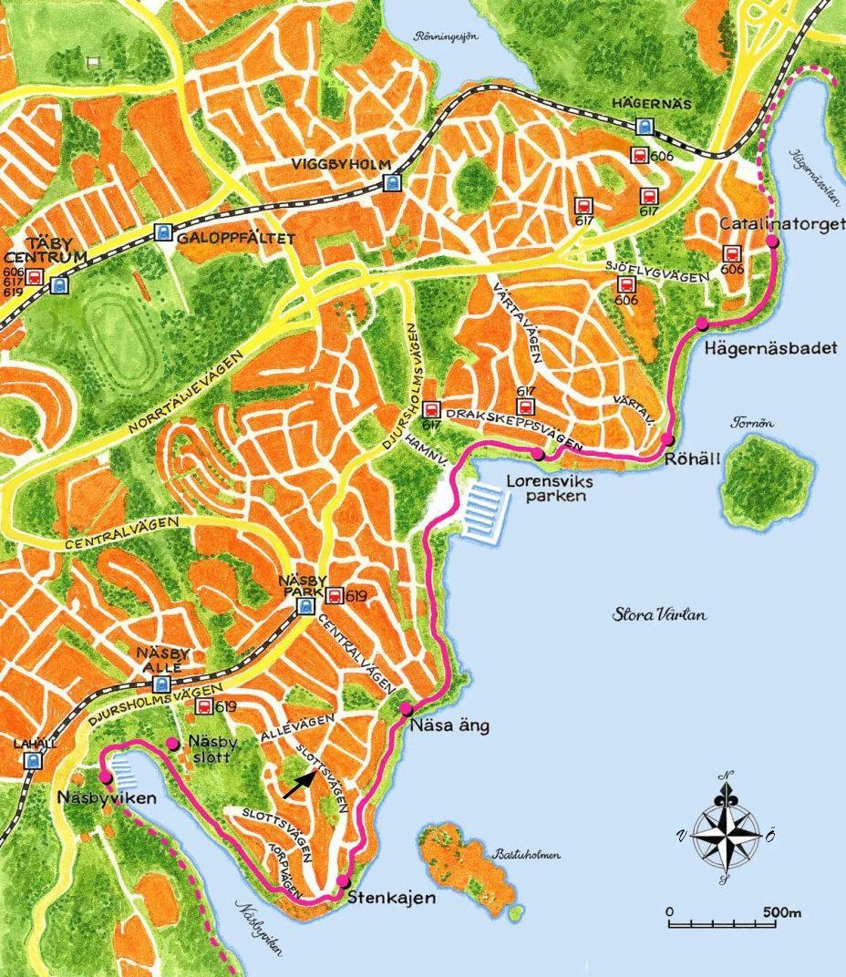 Näsby Park karta