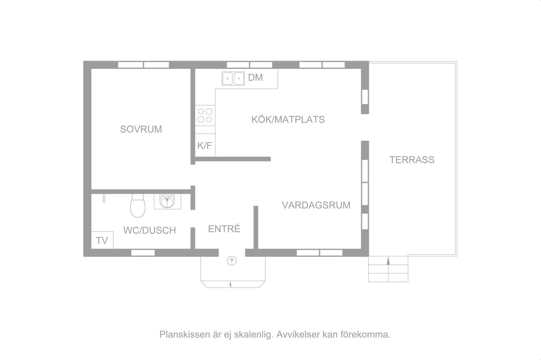 Planritning Gästhus